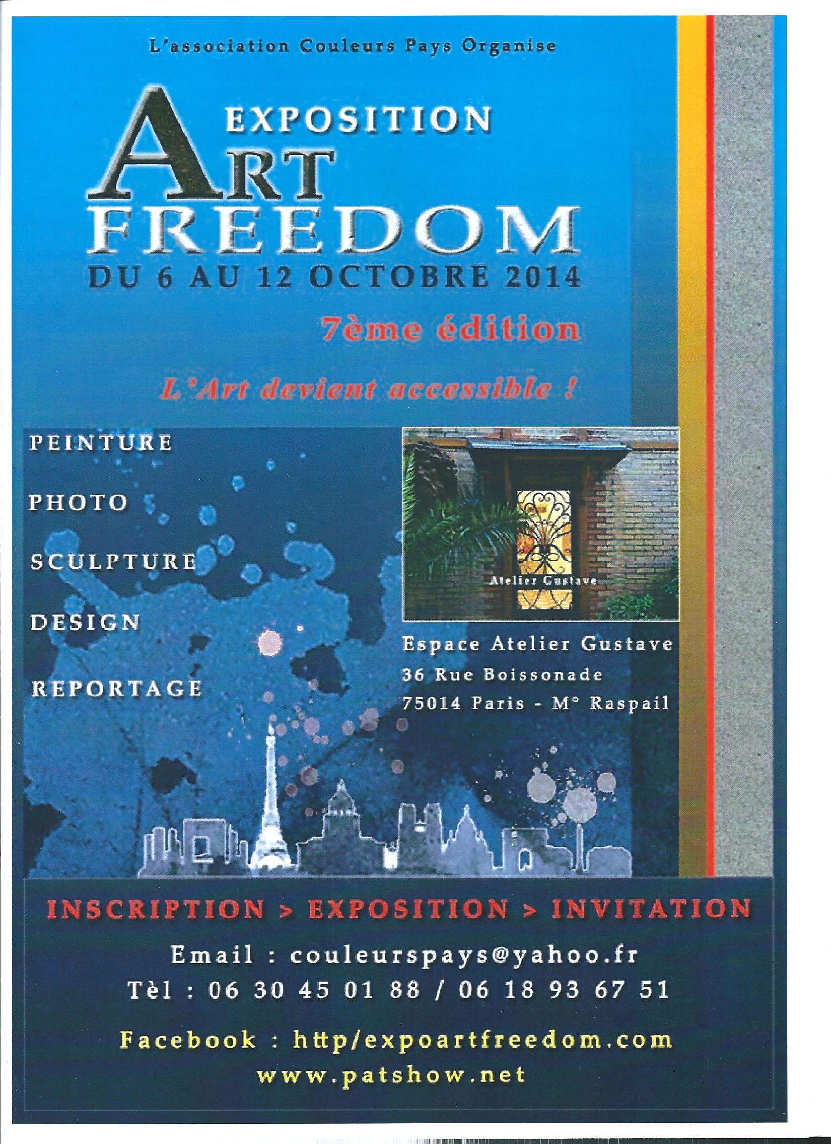Affiche expo Art Freedom 2014