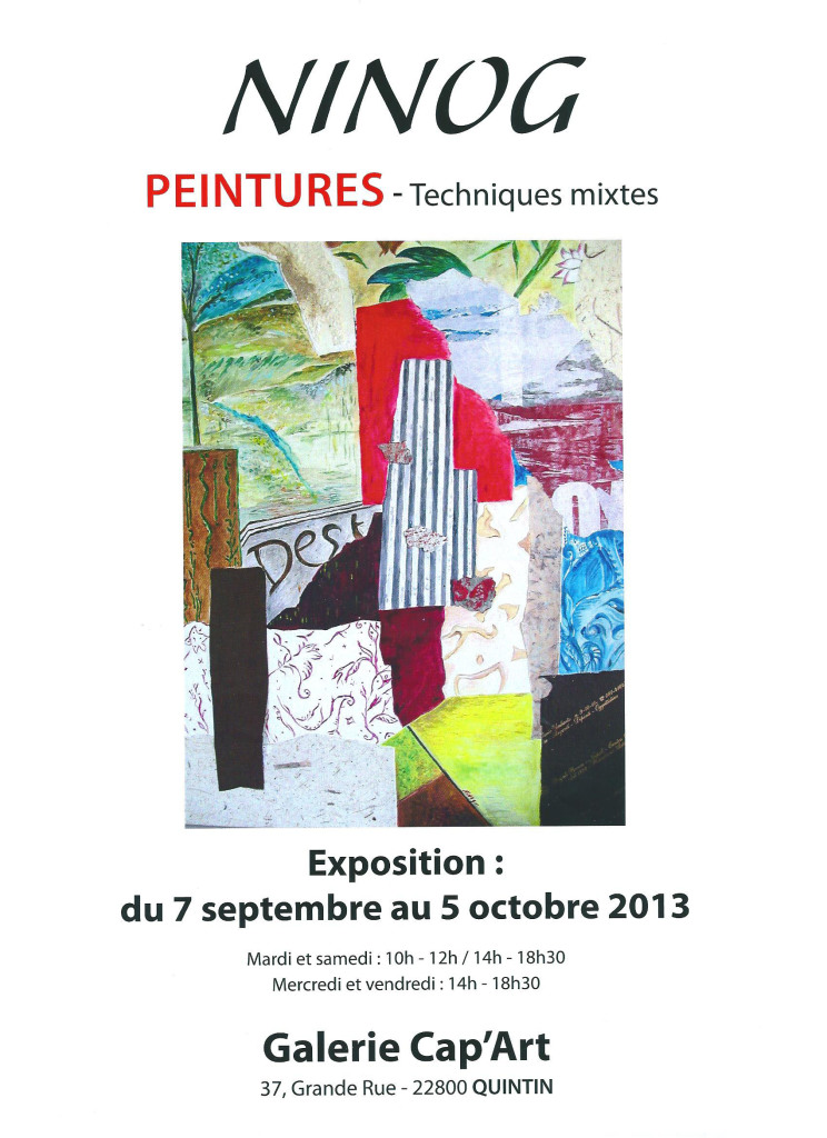 Affiche expo Quintin 2013
