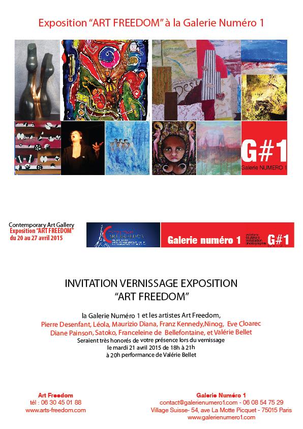 Affiche exposition ART FREEDOM Paris